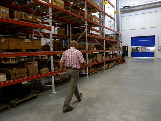 Wagner Equipment Co.  branch manager Randy Randlemon leads a tour of his facility, Wednesday, Aug. 24, 2016 at Wagner Equipment Co. facility in the Animas Business Park in Bloomfield.