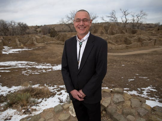 Michael Quijano- West, the new superintendent for Aztec Ruins National Monument and Chaco Culture National Historical Park, poses for a portrait on Dec. 6 at Aztec Ruins.