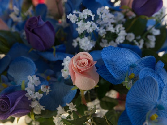 A bouquet is displayed Tuesday at the Lil Aztec Flower Shop.