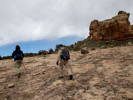 Sheri and George Michaels hike  the Sand Canyon Trail