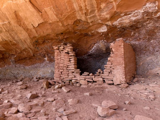 An ancestral Puebloan archaeological site is pictured April 27 along the Sand Canyon Trail at the Canyon of the Ancients National Monument in  Cortez, Colo.