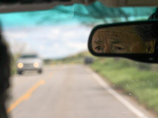 La Plata resident Steve Dunn drives down the La Plata Highway on Wednesday.