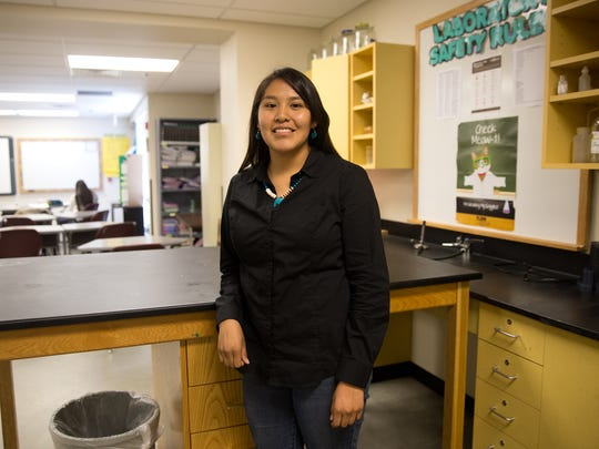 Navajo Prep senior Kelly Charley took part in the White House Science Fair in 2015 and appeared on The Weather Channel during that same trip.