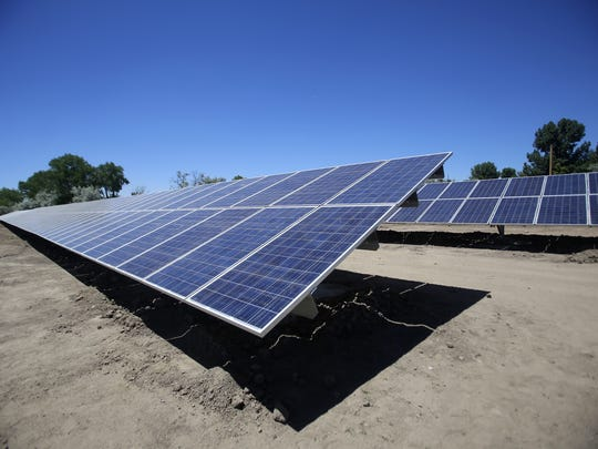 The city of Aztec's new solar farm is located off Western Drive. The city of Aztec's new solar farm is located off Western Drive.