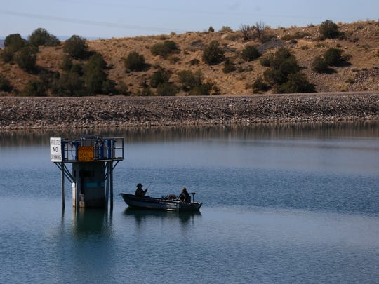 Anglers fish in 2017 on Lake Farmington. New Mexico Department of Game and Fish released 1,777 rainbow trout into the lake on Dec. 9.