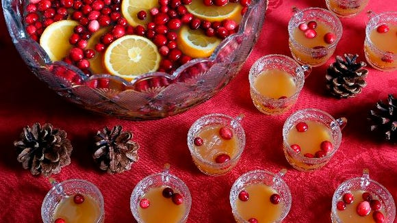 Wassail, a warm Christmas punch, makes every party merry and bright. Can be made with or without alcohol. (Tania Savayan / The Journal News)