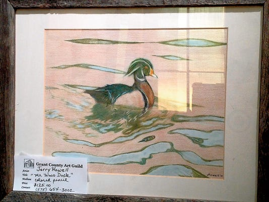 """Courtesy Photo   A colored pencil drawing by Jerry Howell, titled: """"Mr. Wood Duck."""""""