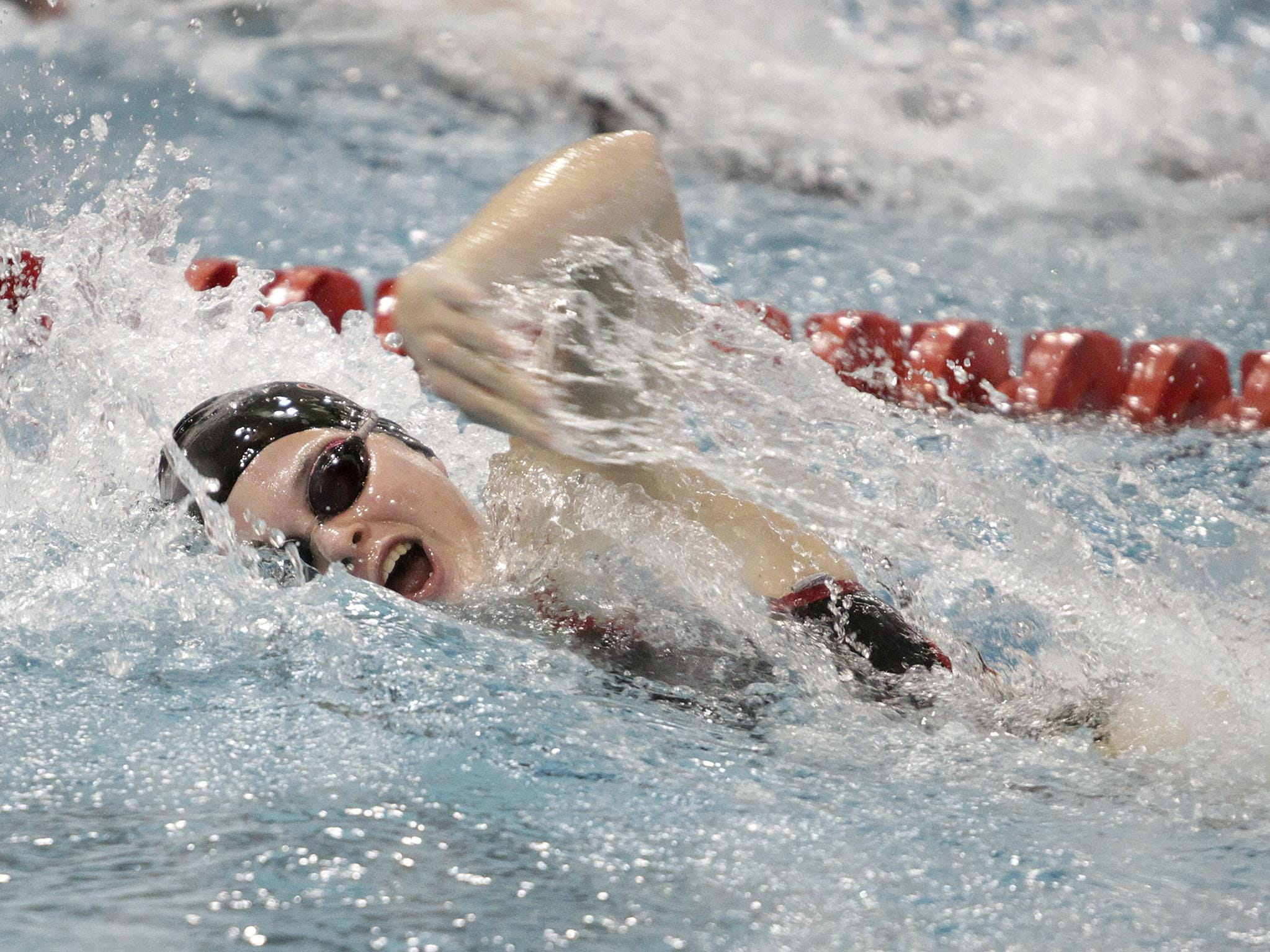 Kerry Tepe of Colerain swims a 26.10 in the 50-yard freestyle at the Southwest Ohio High School Swimming and Diving Classic last season.