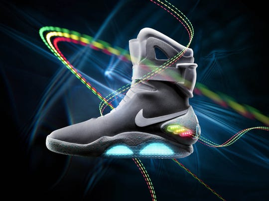 "In 2011, Nike said it has created a limited-edition shoe based on a glowing pair that appeared in ""Back to the Future II."" A new show features lights and ""self-tightening technology"" and will be released in 2015."