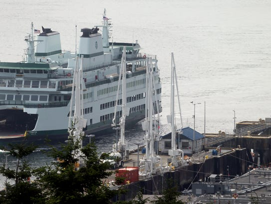 The new Washington State Ferry Chimacum approaches