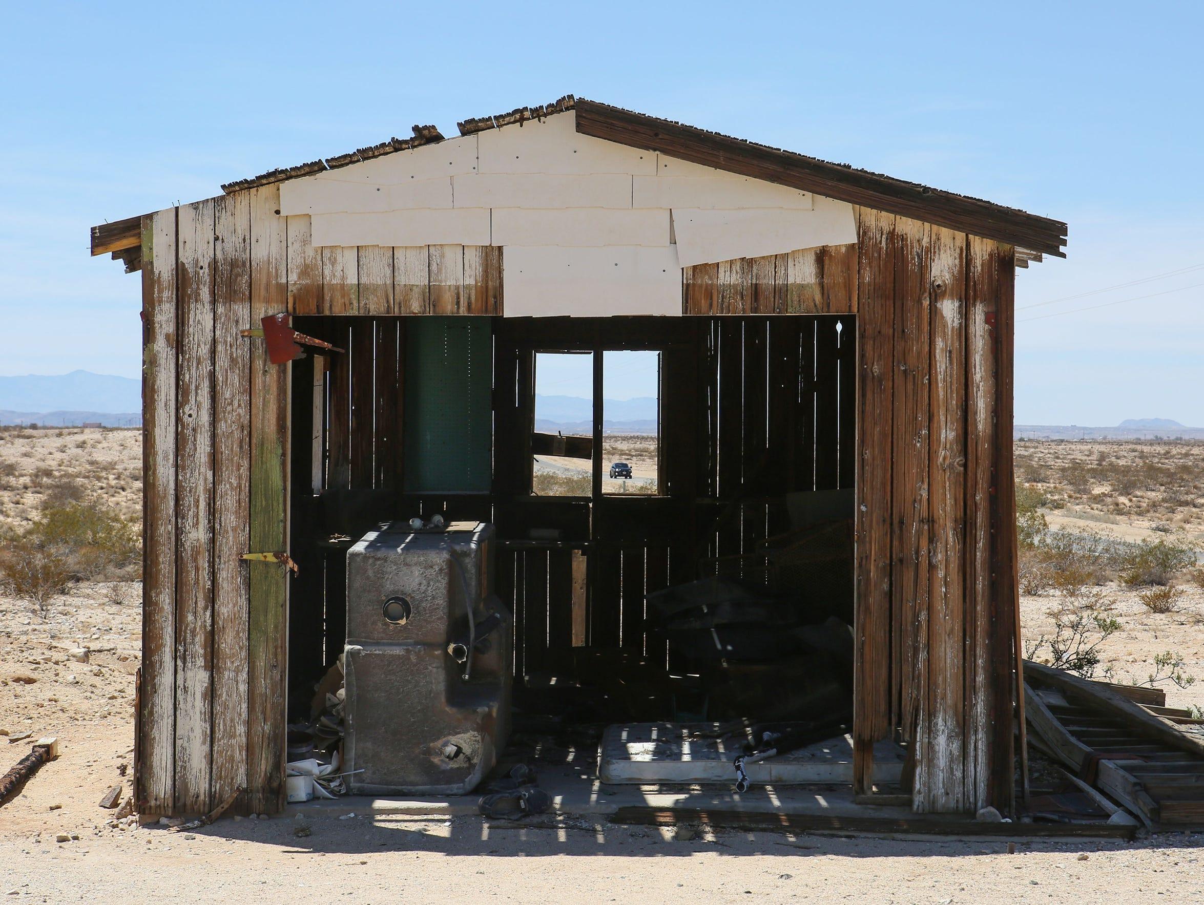 An old homestead cabin in Wonder Valley.