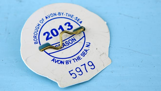 A season beach badge from Avon-By-The-Sea