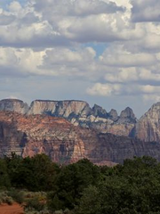 An image of Zion National Park as seen from Virgin,