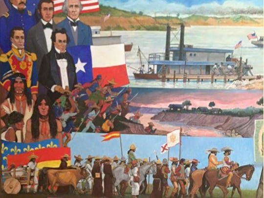 The museum's murals were drawn and painted by Daniel Lechón of Houston. Lechón, originally from Mexico City, worked and painted with the famed Mexican muralist Diego Rivera.