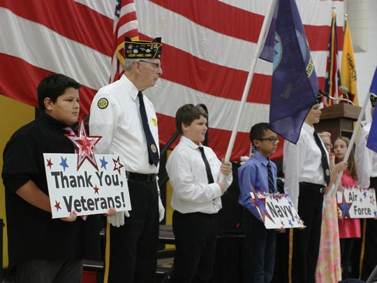 Etna Elementary thanked area veterans on Monday with its annual Veterans Day program.