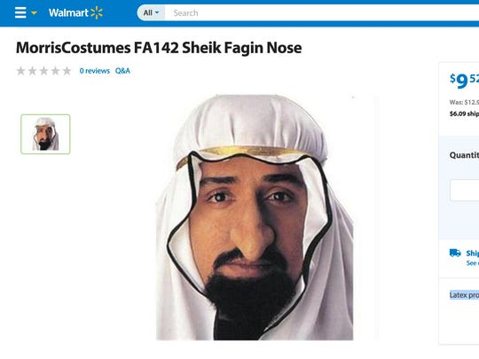 "The chain's latex ""Sheik Fagin nose"" has also drawn"