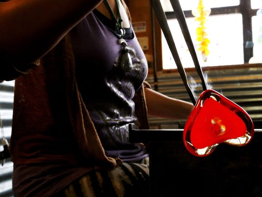 Hearts are on fire for Valentine's Day at Seattle glassblower's