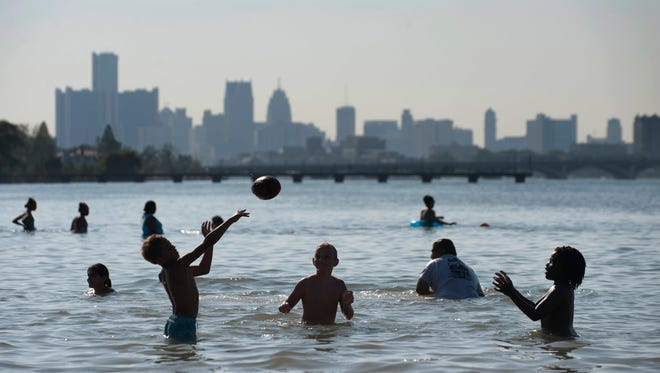 Michigan State Police said Monday, May 28, 2018 that they were temporarily closing Belle Isle State Park to more people because of overcrowding.