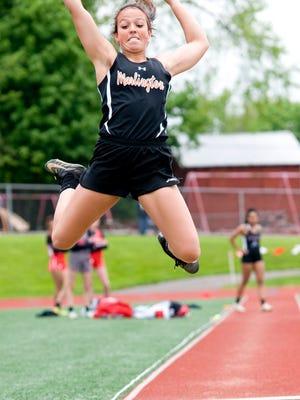 Marlington's Calli Swisher was a star in the long jump.