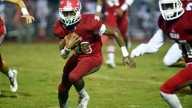 Vero Beach High School hosted a District 8-8A game against St. Lucie West Centennial on Friday, Sept. 29, 2017 at the Citrus Bowl in Vero Beach. The Fighting Indians won 30-3 to remain undefeated for the season.