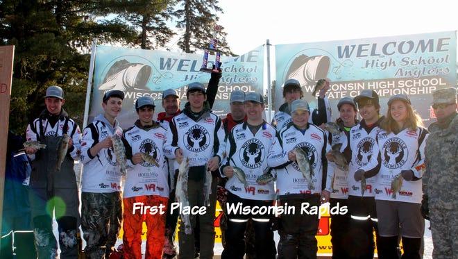 Wisconsin Rapids High School won the 2015 High School Ice Fishing Championship in Chetek on Feb. 21, 2015.