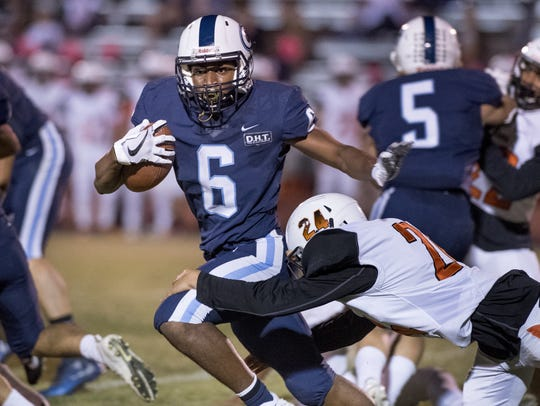 Central Valley Christian's Brian Noel runs against