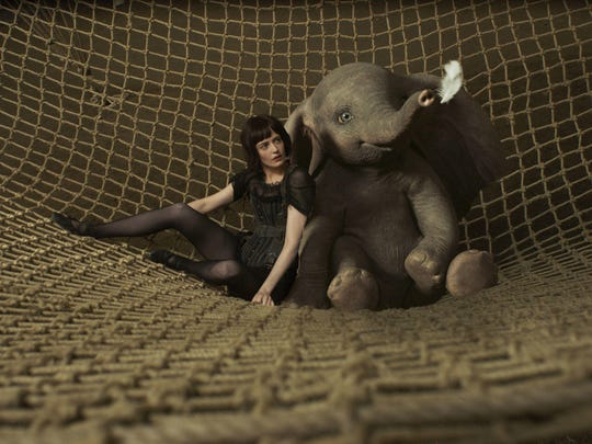 "Aerial star Colette Marchant (Eva Green) teams up with a baby elephant who can fly in the new ""Dumbo"" from director Tim Burton."