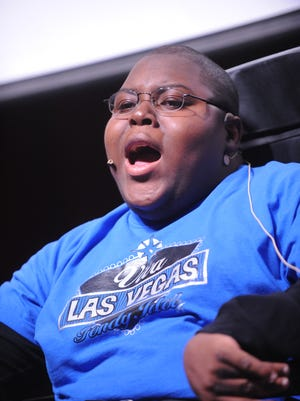 A former Cardinal W.I.N.G.S student performs on stage at Fondy Idol.