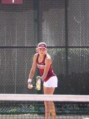 In singles play, FSU freshman Petra Hule carries the