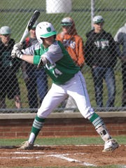 Clear Fork's Thomas Staab readies himself at bat while