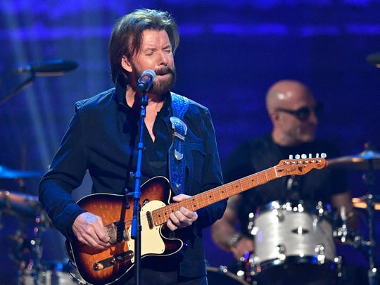 Ronnie Dunn performs at the Merle Haggard tribute concert April 6, 2017, at Bridgestone Arena in Nashville.