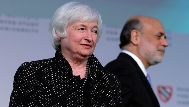Federal Reserve Chair Janet Yellen is introduced by