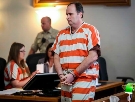 Joseph Finn II leaves a Polk County Courthouse courtroom