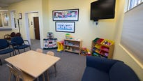 The waiting room of Dover's Child Advocacy Center is tailored for children.