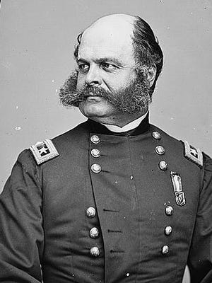 "Ambrose Burnside, first president of NRA, founded the organization in 1871 to ""promote and encourage rifle shooting on a scientific basis."""
