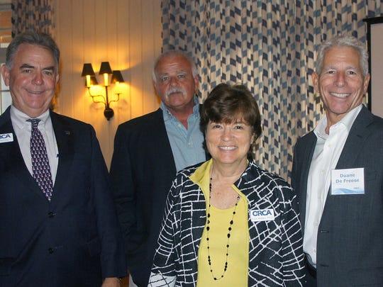 Bill Penney, left, Warren Falls, Edie Widder, and Duane