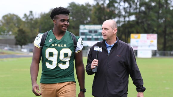 "Berea senior defensive lineman Adam Henderson is featured in this week's edition of ""100 Yards with Bob Castello."""
