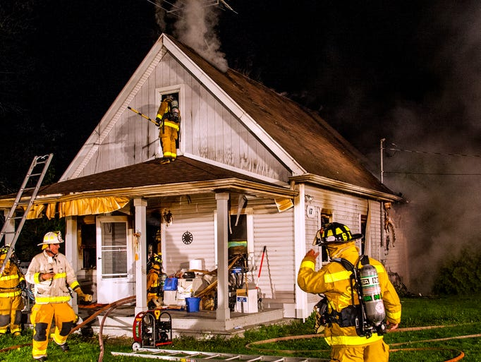 The Churchville Fire Department received multiple calls for a house on fire at 17 Willowbank Dr.