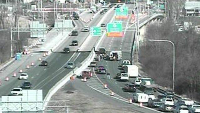 Accident scene on Del. 141 near I-95