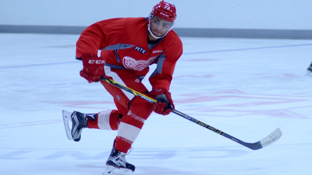 Andreas Athanasiou says he's ready to help Red Wings again