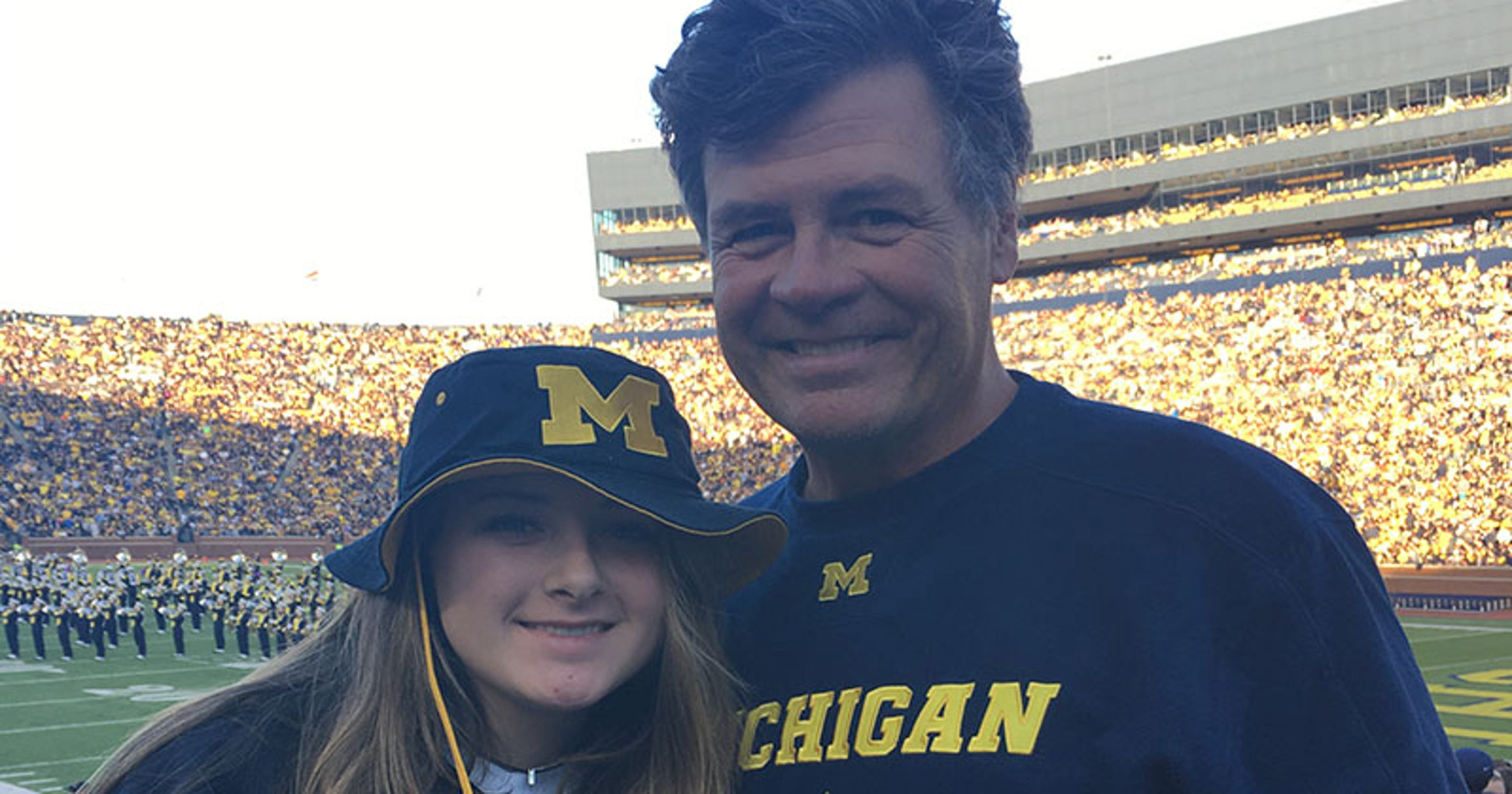 NASCAR star Michael Waltrip sees Michigan football game with