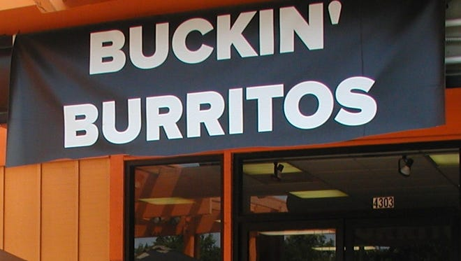 Buckin' Burrito is located on Noble Avenue next to Quantum Leap Extreme Air Sports.