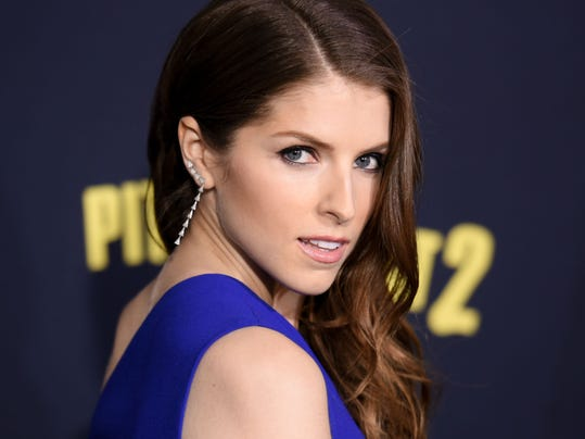 "Anna Kendrick arrives at the World Premiere of ""Pitch Perfect 2"" held at the Nokia Theatre L.A. Live on Friday, May 8, 2015, in Los Angeles."