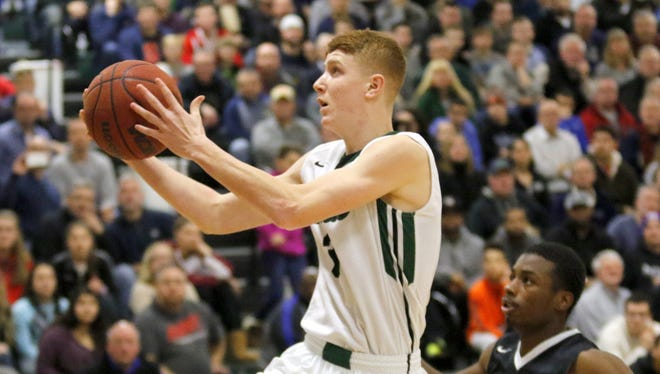Shenendehowa's Kevin Huerter drives to the basket during Wednesday's National Division title game against Bishop Kearney in the Josh Palmer Fund Tournament.