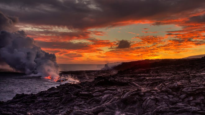 """Fred Haaser was among the winners in Montgomery's annual amateur photo competition last year with his entry  """"Lava Meets the Pacific at Sunset."""" Submissions for this year's competition are being accepted through March 30."""