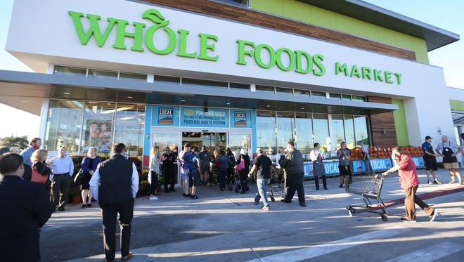About 200 people were in line when Whole Foods opened its first El Paso store Oct. 19, store officials reported.