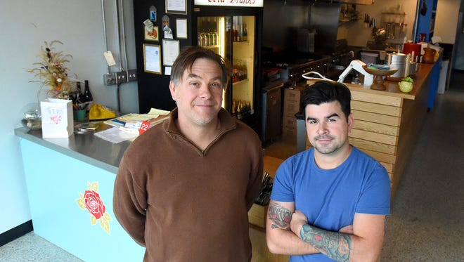 Co-owners Bill Willett and Justin Hershey stand within their restaurant, Chicano Boy Taco, at  240 North Central Avenue, Unit 6, in Staunton on Monday, Nov. 28, 2016.