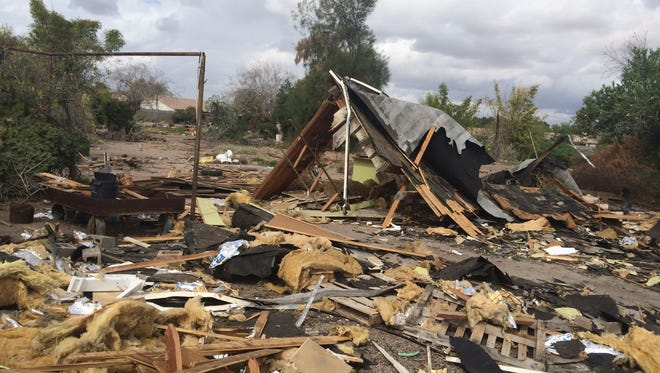 City officials are working with owner Jay Harper to resolve the mess at Harper's Nursery in Mesa.