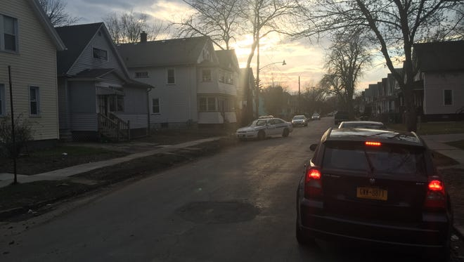 Rochester police were on Weaver Street on Wednesday afternoon as they continued to investigate an earlier shooting in the city.