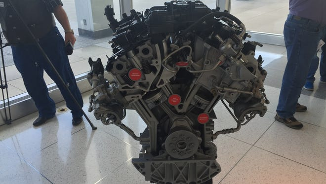 Ford's redesigned, 3.5-liter, V-6 EcoBoost engine will produce 365 horsepower and 450 pound feet of torque.